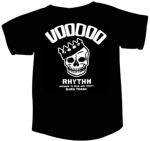 Cover VOODOO RHYTHM, skull logo (girlie) (round neck) black
