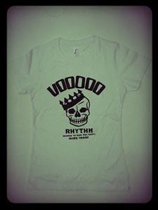 VOODOO RHYTHM, skull logo (girlie) white cover
