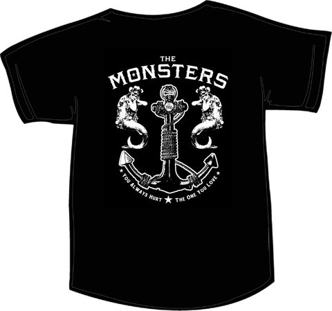 Cover VOODOO RHYTHM, monsters anchor (girlie) black