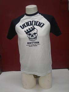 Cover VOODOO RHYTHM, baseball skull logo (boy) white