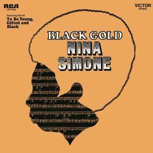 NINA SIMONE, black gold cover