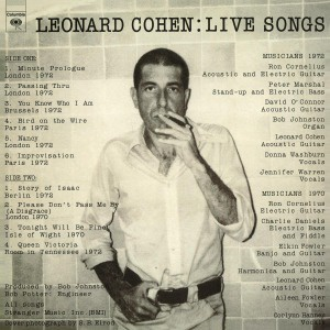 Cover LEONARD COHEN, live songs