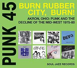 V/A, punk 45: burn, rubber city, burn! - akron, ohio cover