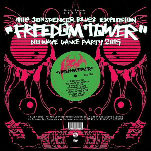 JON SPENCER BLUES EXPLOSION, freedom tower cover