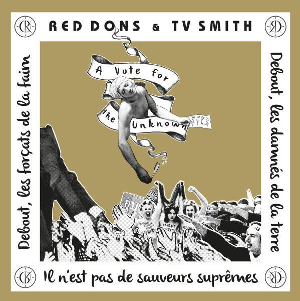 Cover RED DONS & TV SMITH, a vote for the unknown