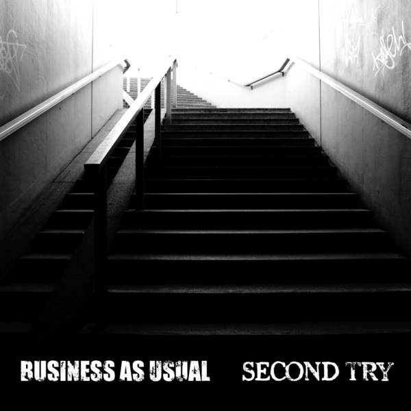 BUSINESS AS USUAL / SECOND TRY, split cover