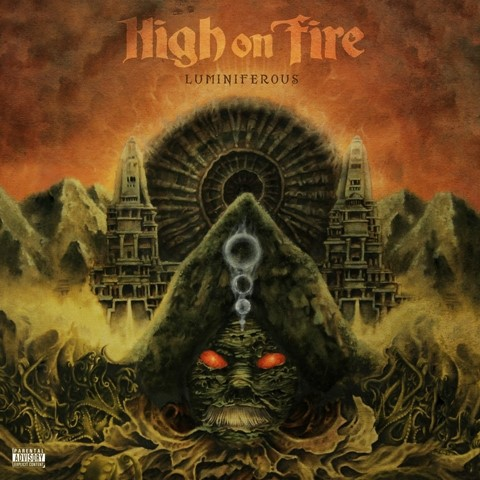 HIGH ON FIRE, luminiferous cover