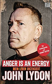 Cover JOHN LYDON, anger is an energy (Deutsche Ausgabe)