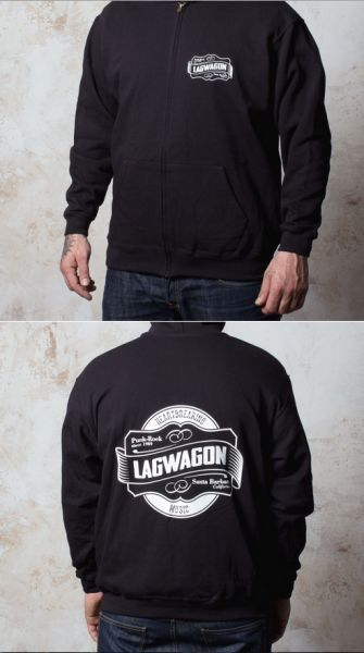 Cover LAGWAGON, emblem (boy) black ZipHoodie
