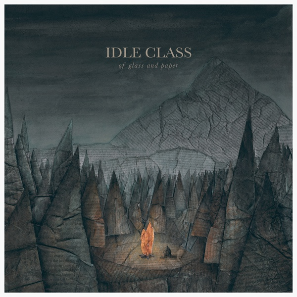 Cover IDLE CLASS, of glass and paper