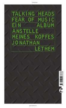 Cover JONATHAN LETHEM, talking heads-fear of music