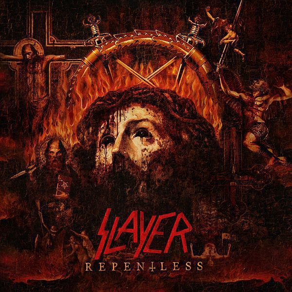 Cover SLAYER, repentless (black vinyl)