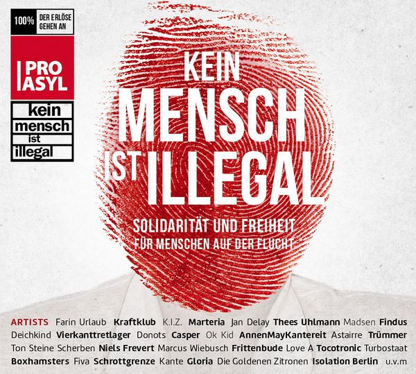 Cover V/A, kein mensch ist illegal