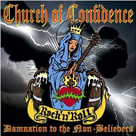 Cover CHURCH OF CONFIDENCE, damnation to the non-believers