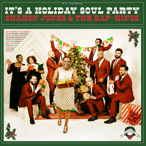 Cover SHARON JONES & DAP KINGS, it´s a holiday soul party