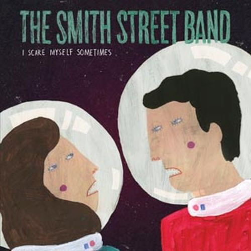 Cover SMITH STREET BAND, i scare myself sometimes (aqua-blau)
