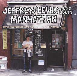 JEFFREY LEWIS & LOS BOLTS, manhattan cover