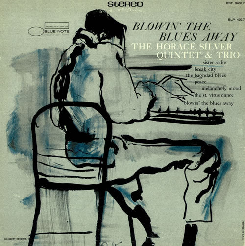 HORACE SILVER QUINTET, blowin´the blues away cover
