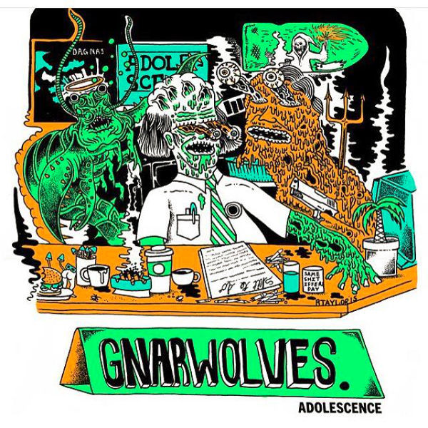 GNARWOLVES, adolescence cover