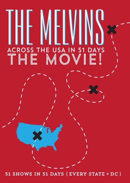 Cover MELVINS, across the usa in 51 days: the movie