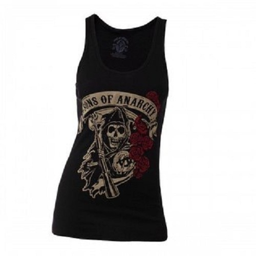 SONS OF ANARCHY, reaper & roses (girl) black tanktop cover