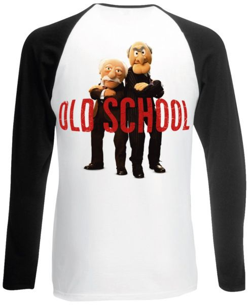 Cover MUPPETS, old school (boy) white black longsleeve