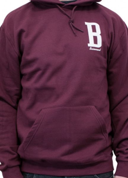 Cover BASEMENT, b (boy) burgundy hoodie