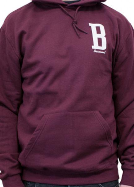 BASEMENT, b (boy) burgundy hoodie cover