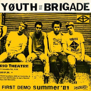 Cover YOUTH BRIGADE, complete first demo