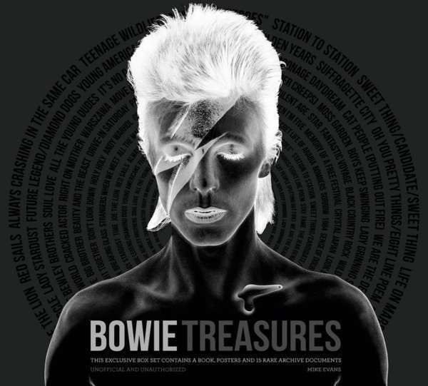 Cover MIKE EVANS, bowie treasures
