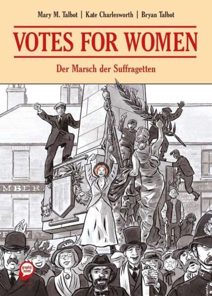 BRYAN TALBOT/MARY TALBOT/KATE CHARLESWORTH, votes for women cover