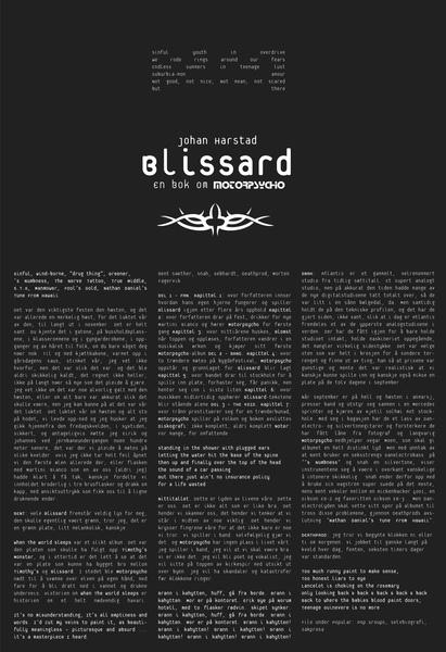 JOHAN HARSTAD, blissard - en bok om motorpsycho cover