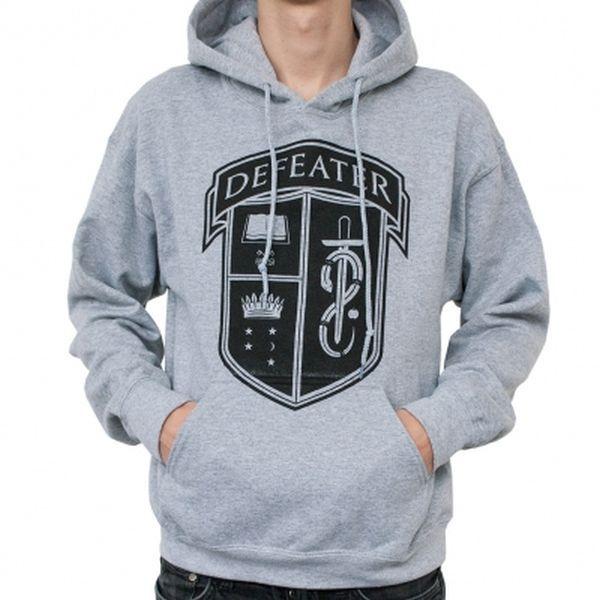 DEFEATER, crest (boy) grey melange hoodie cover