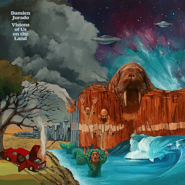Cover DAMIEN JURADO, visions of us on the land