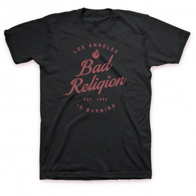 BAD RELIGION, la is burning (boy) black cover