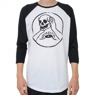 Cover AGAINST ME, skull (boy) black/white baseball ls