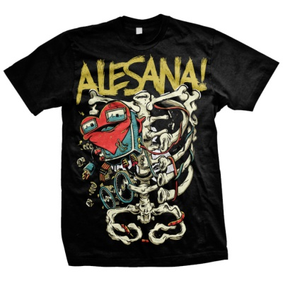Cover ALESANA, skeleton (boy) black