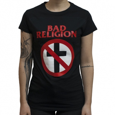BAD RELIGION, cross buster (girl) black cover