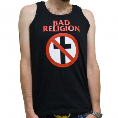 BAD RELIGION, cross buster (boy) black tanktop cover