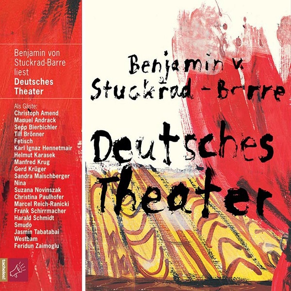 Cover BENJAMIN VON STUCKRAD-BARRE, deutsches theater