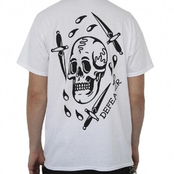 DEFEATER, skull dagger (boy) white cover