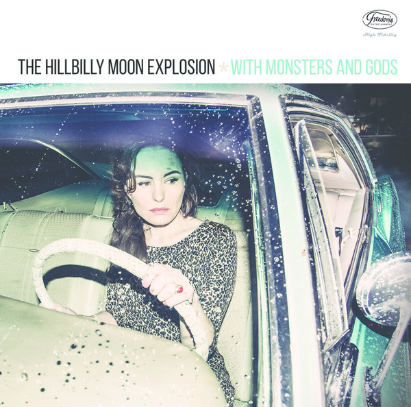 Cover HILLBILLY MOON EXPLOSION, with monsters and god
