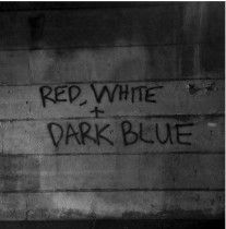 DARK BLUE, red/white cover