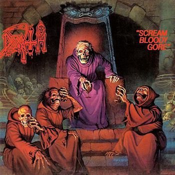 Cover DEATH, scream bloody gore