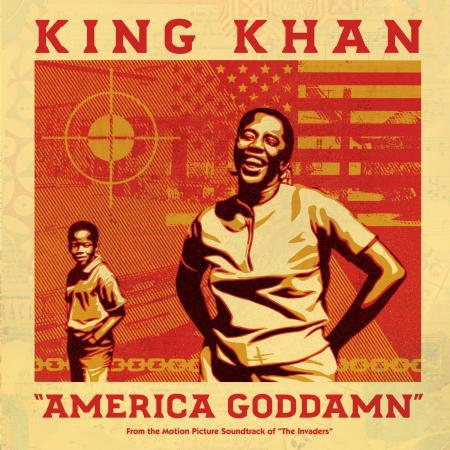 KING KHAN, america goddamn/mule train cover