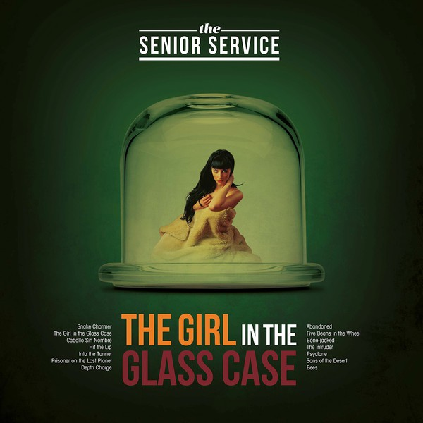 SENIOR SERVICE, the girl in the glass case cover