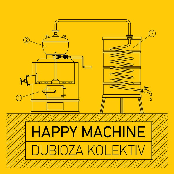 Cover DUBIOZA KOLLEKTIV, happy machine
