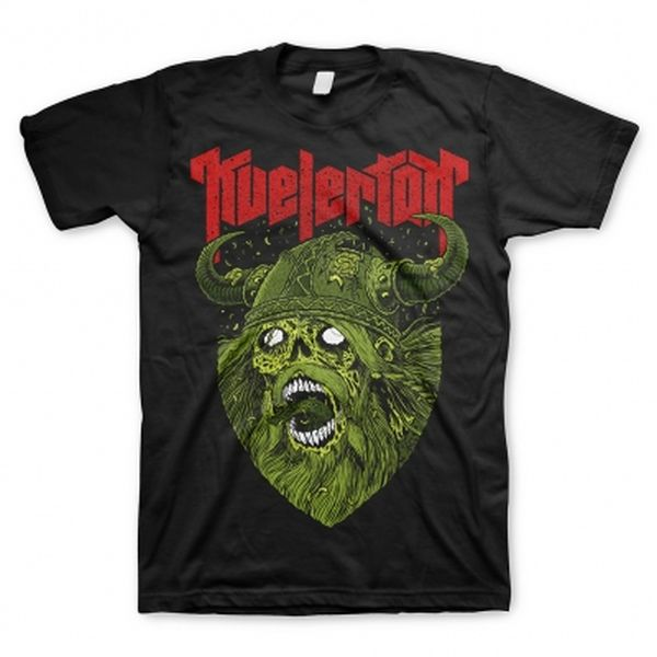 Cover KVELERTAK, zombie viking green (boy) black