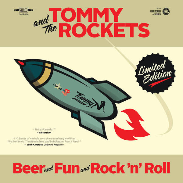Cover TOMMY AND THE ROCKETS, beer and fun and rock´n´roll