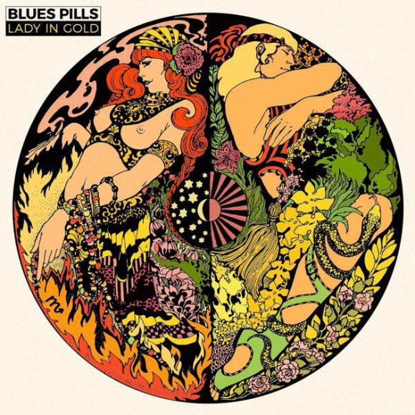 Cover BLUES PILLS, lady in gold (gold vinyl)